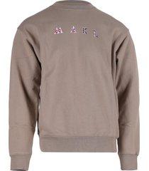 mael studios sweater met logo taupe