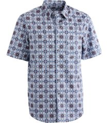 tasso elba men's acrosso medallion-print shirt, created for macy's