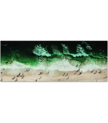 "empire art direct high tide frameless free floating tempered glass panel graphic wall art, 24"" x 63"" x 0.2"""