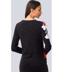 tröja alba moda svart::röd::offwhite