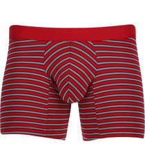bóxer rayas horizontales color rojo, talla s