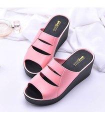 zapatillas de mujer verano pvc antideslizantes cuñas sandalias