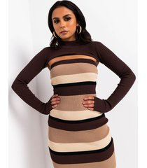 akira nude intentions ribbed cropped shrug