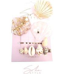soho style mermaid hair clip, set of 5