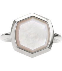 kendra scott sterling silver stone hexagon ring