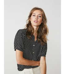 summum 2s2555-11362 blouse fluid viscose dots