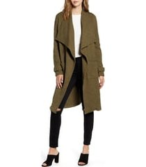 women's bb dakota revolution drapey boucle trench coat
