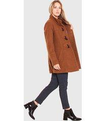 abrigo wados montgomery camel - calce regular