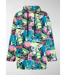 balenciaga graphic print cotton hoodie