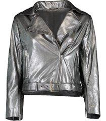 daphne cropped metallic jacket