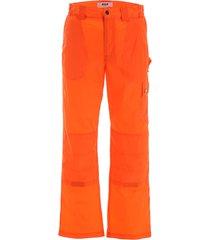 msgm nylon cargo trousers