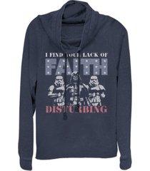 fifth sun star wars darth vader patriotic faith cowl neck sweater
