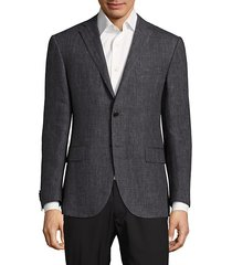 solid textured sport coat
