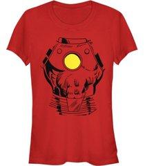 fifth sun marvel women's iron man suit super retro halloween cosplay short sleeve tee shirt