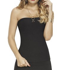 blusa coqueta negro para mujer croydon