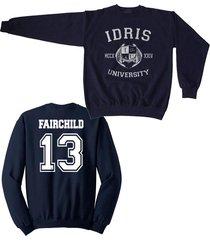fairchild 13 idris university mortal instrumen unisex crewneck sweatshirt navy