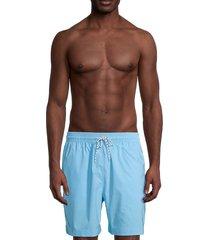 brooks brothers men's montauk solid swim shorts - blue - size s