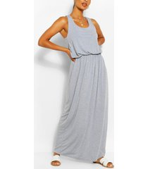 racer back maxi dress, light grey