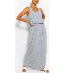 maxi-jurk met racerback, lichtgrijs