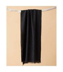 lenço em poliéster e viscose - lenço columbia cor: preto - tamanho: único