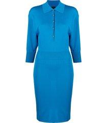 pinko polo-shirt dress - blue