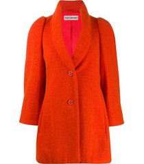 issey miyake pre-owned relaxed fit coat - orange