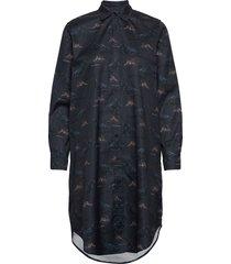 raven shirt dress korte jurk blauw makia