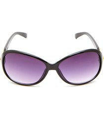 gafas marco ovalado color negro, talla uni