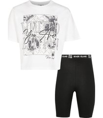 river island womens girls white tie dye graphic t-shirt outfit