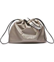 n.21 large grey eco-leather crossbody bag