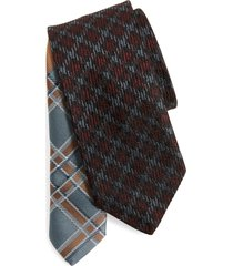 men's dries van noten check silk tie
