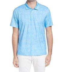 men's bugatchi ooohcotton tech short sleeve polo shirt, size x-large - blue