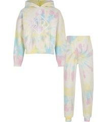 river island girls pink tie dye ri outfit