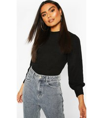balloon sleeve sweater, black