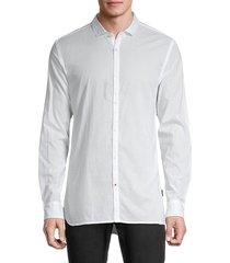 john varvatos star u.s.a. men's long-sleeve shirt - white - size m