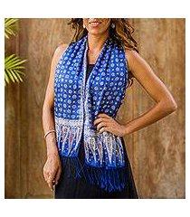 silk batik scarf, 'awakening' (indonesia)