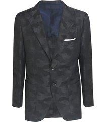 camouflage print blazer