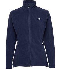 tinnhølen microfleece jacket sweat-shirt tröja blå skogstad