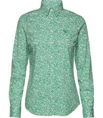 o1. stretch broadcloth ditzy flower overhemd met lange mouwen groen gant