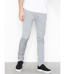 tailored originals pants -tofrederic byxor light grey melange