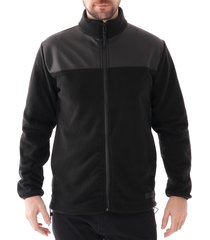 rains fleece zip puller jacket |black| 1812-01
