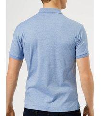 polo ralph lauren men's slim fit soft cotton polo shirt - jamaica heather - xxl - blue