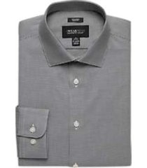 awearness kenneth cole blue woven slim fit dress shirt