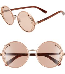 women's jimmy choo gema 59mm round sunglasses - nude