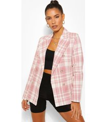 woven jacquard flannel blazer, rose