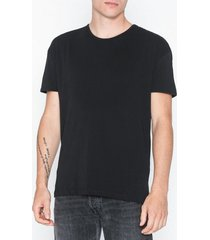 selected homme slhheat ss o-neck tee b ka t-shirts & linnen svart