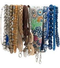 amir slama charms bracelets set - blue