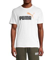puma men's ess logo t-shirt - white - size m
