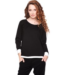 bluza prosta czarno-biała