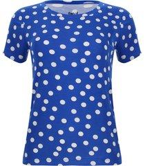 camiseta mujer lunares color azul, talla s